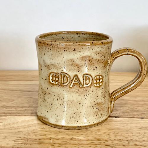 "Handmade Pottery ""Dad"" Mug Honey Carmel"