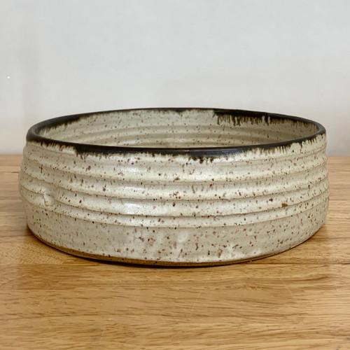 "Handmade Pottery Luna Tall Serving Bowl 10"" X 3"""