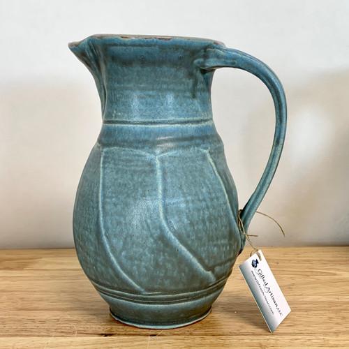 Handmade Pottery Pitcher Sky Blue