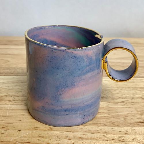 Handmade Ceramic Mug Rainbow