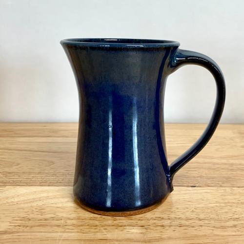 Handmade Pottery Tall Mug Blue Glaze