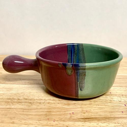 Soup and Chili Bowl Green/Blue/Purple Glaze