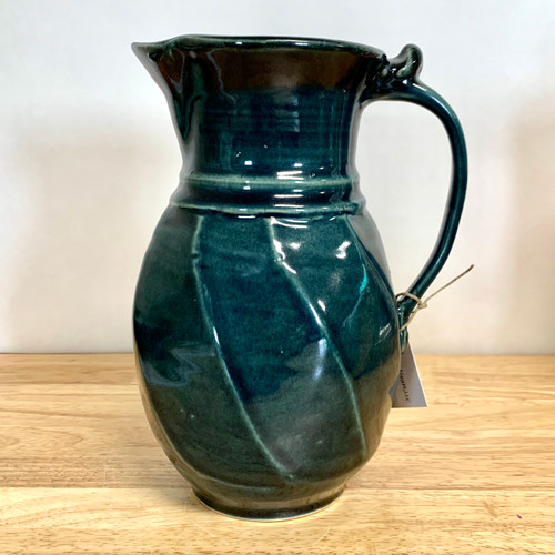 Handmade Pottery Pitcher Forest Green