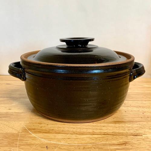 Handmade Covered Casserole Dish-Expresso