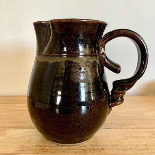 Handmade Pottery Water / Milk Pitcher in Ebony Glaze