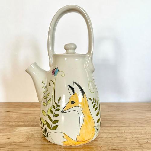 Handmade Pottery Tea Pot in Fox Collection
