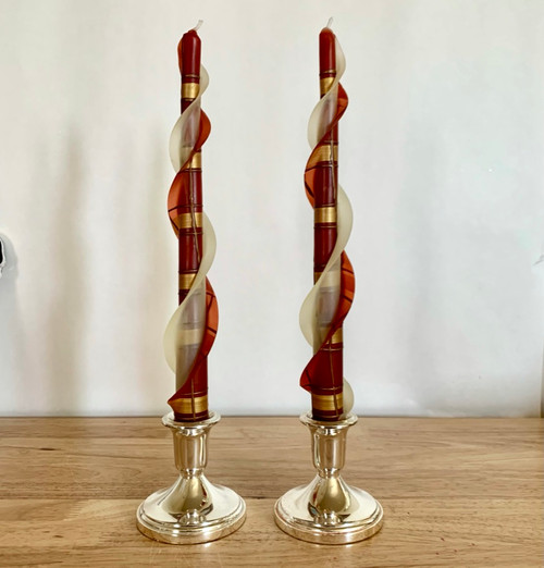 """100% Beeswax Double Flare Rust and Gold  12"""""""