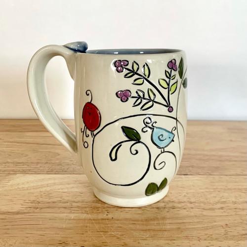 Handmade Pottery Mug Swirly Gig Collection