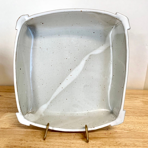 """Handmade Pottery """"The Square"""" Bakeware or Serving Dish  White"""