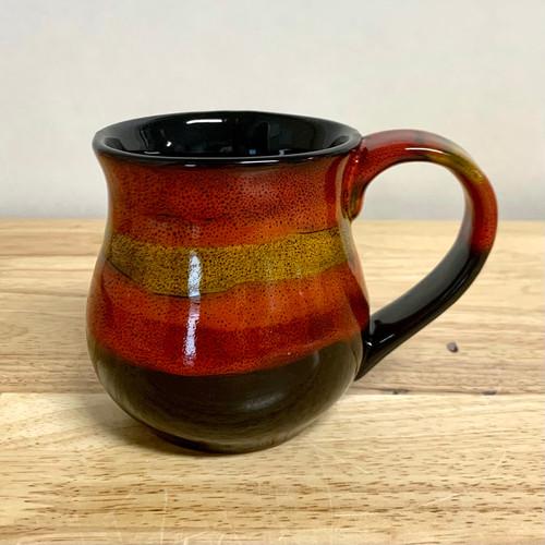 Handmade Pottery Dantes Red Mug 10 oz