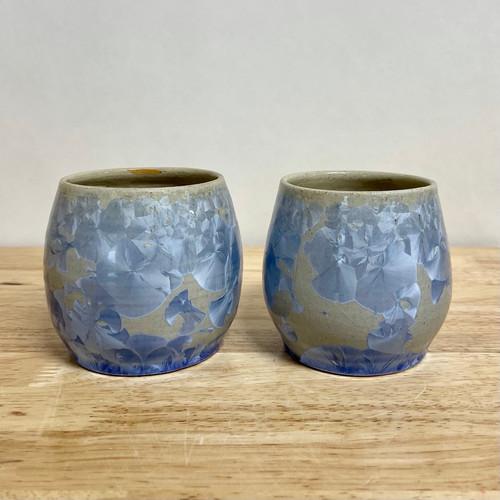 Handmade Crystalline Wine Tumbler Set of two