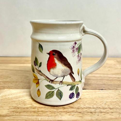 Handmade Robin Mug in Cream 14 oz
