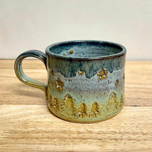 Handmade Pottery Mug Night Sky Camper Mug
