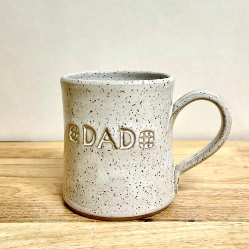 "Handmade Pottery ""Dad"" Mug Vanilla White"