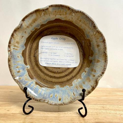 "Handmade Pie Plate/Apple Crisp 9"" Blue Ridge"