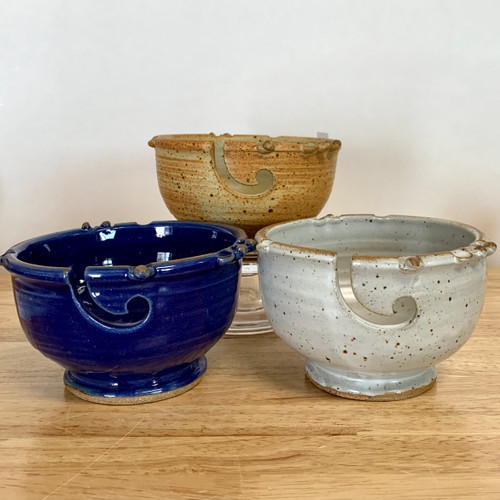 Handmade Stoneware Yarn Bowls