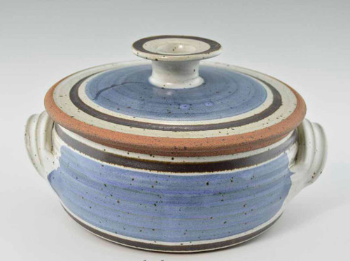 Handmade Pottery 2 Qt Covered Casserole in Old Republic Glaze