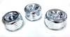 4-5/8 Chrome Louvered Air Cleaners Tri-Power Intake 1BBL 2BBL, Fits Ford/Chevy