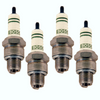 Spark Plugs, Bosch WR7AC+ 14mmx1/2, Set Of 4, Fits VW Bug Air Cooled, 98-9931