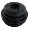 1965-66 SB Ford 289 Black Steel Triple Groove Crankshaft Pulley