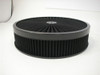 "14"" x 3"" Super Flow Air Cleaner Flat Base Set, Hot Rod Black w/ Washable Filter"