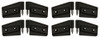2007-15 Jeep Wrangler JK Black Powder Coated Billet Door Hinges 4 Door, Set.