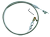 """36"""" Stainless Braided Throttle Cable, Universal Hot Rod V8"""