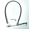 """36"""" Black Stainless Steel Throttle Cable, Universal V8"""
