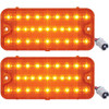 (2) 1967 1968 Chevrolet Truck LED Park Light - Amber Lens w/ Amber LED, Pair