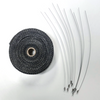 """2"""" x 50' Exhaust Header Heat Wrap Black With Stainless Straps, Hot Rat Street Rod"""