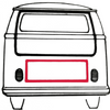 Rear Engine Decklid Door Compartment Seal, 1972-1979 VW BUS Type 2 Transporter