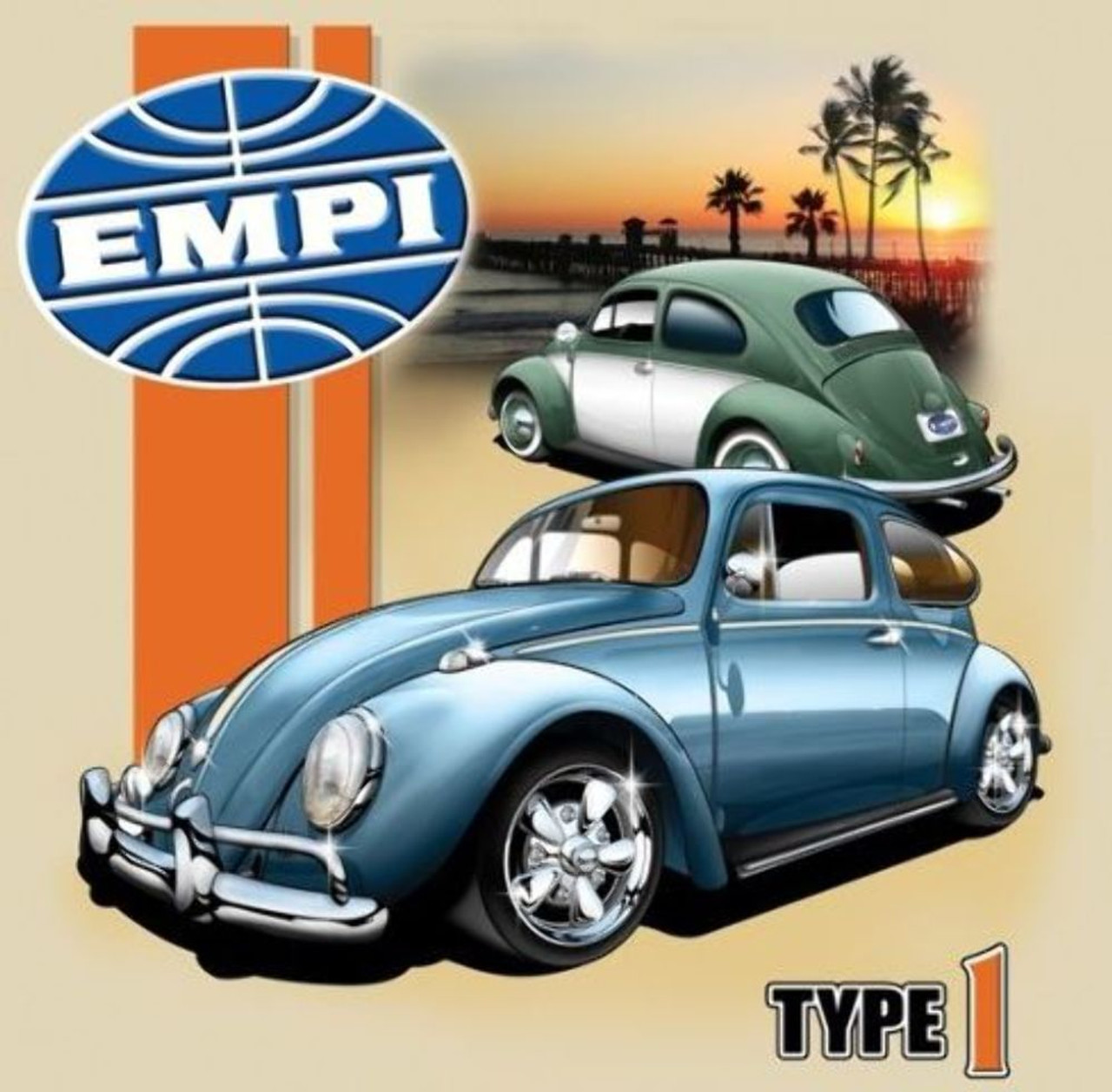 empi t shirt , vw volkswagen type 1 bug 100% cotton , large , 15empi t shirt , vw volkswagen type 1 bug 100% cotton , large ,