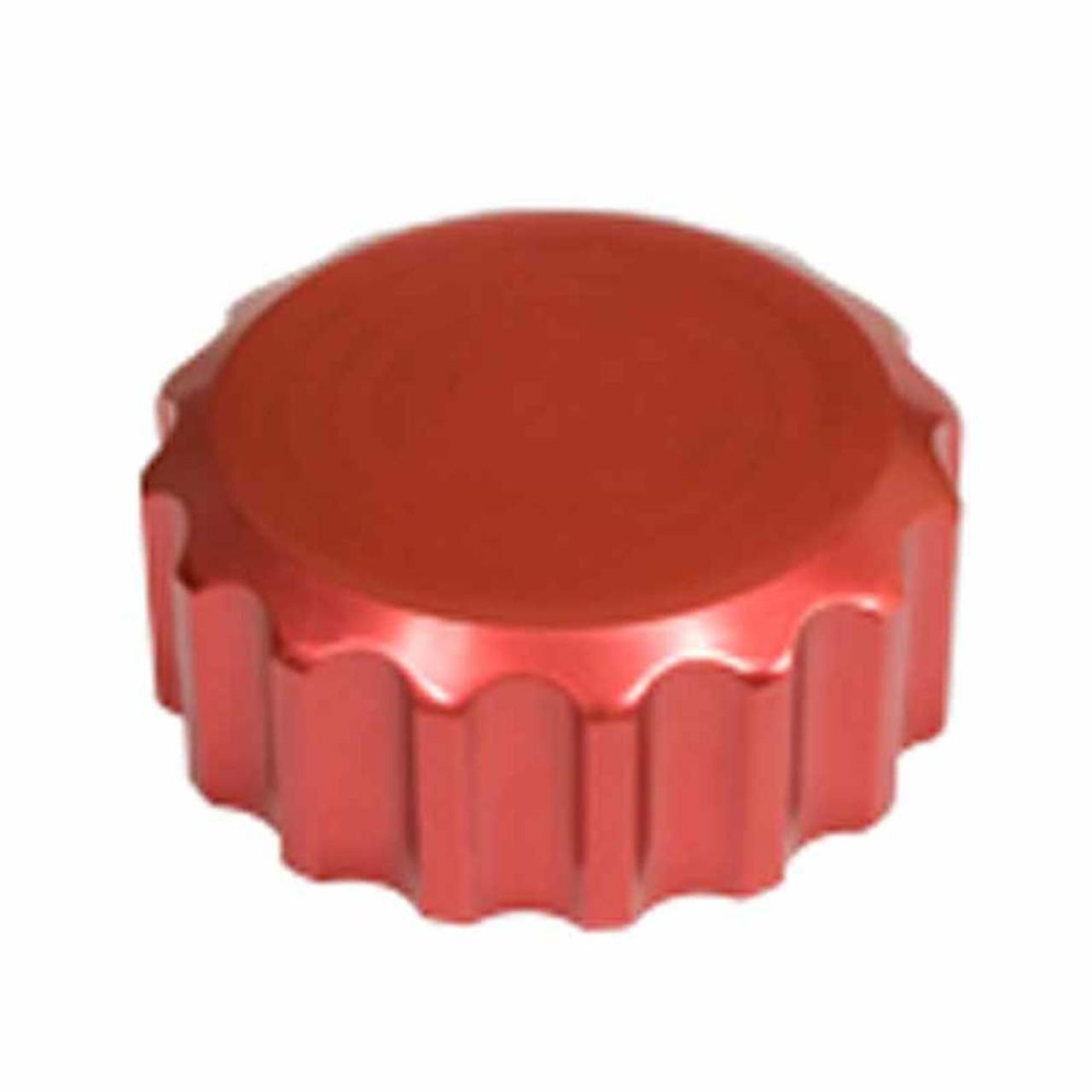 Billet Red Oil Filler Cap w/ Grooves  VW, Bug, Beetle EMPI 18-1079