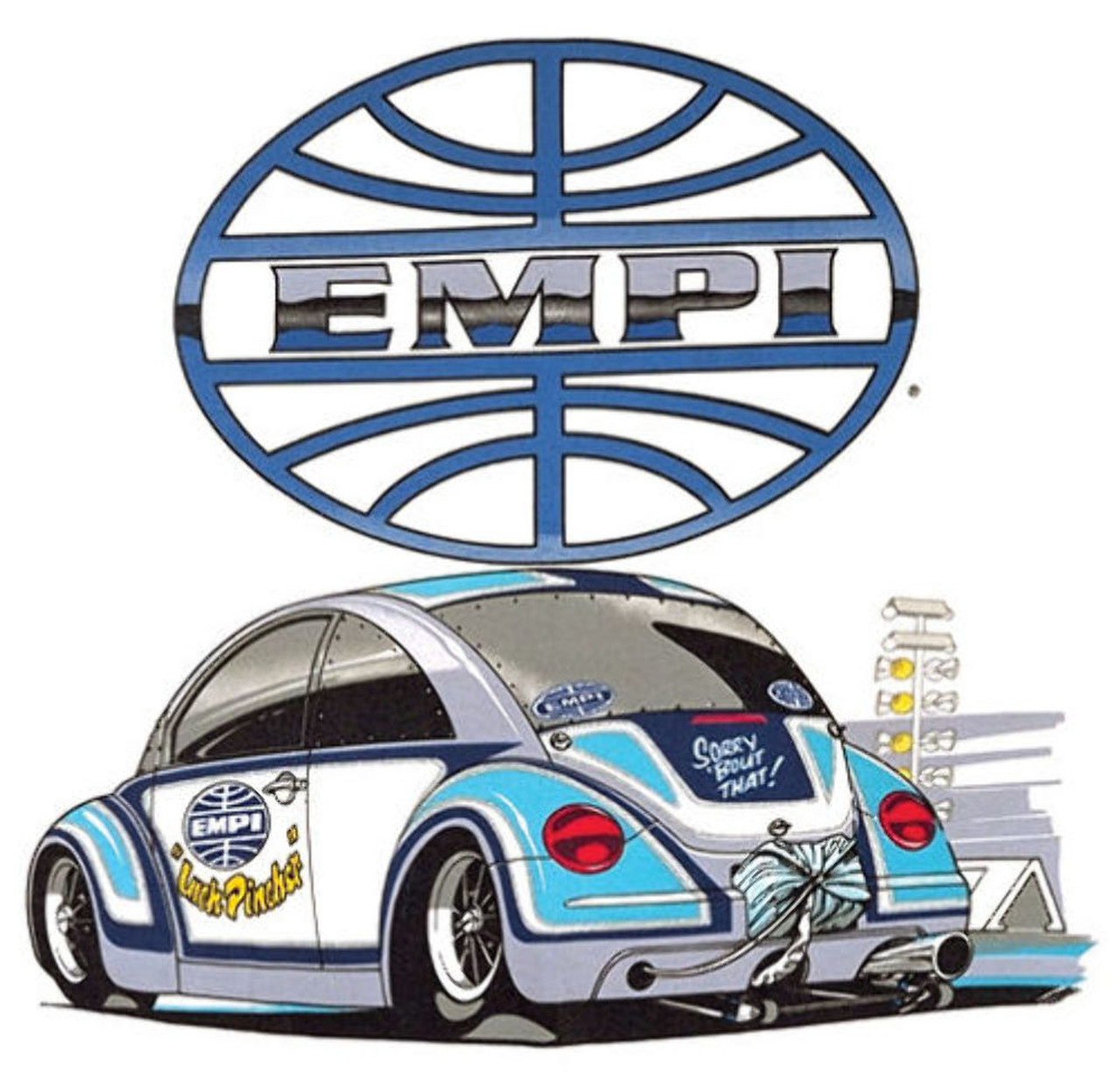 Empi T-Shirt VW Bug New Beetle Inch-Pincher 100% Cotton, Large 9807