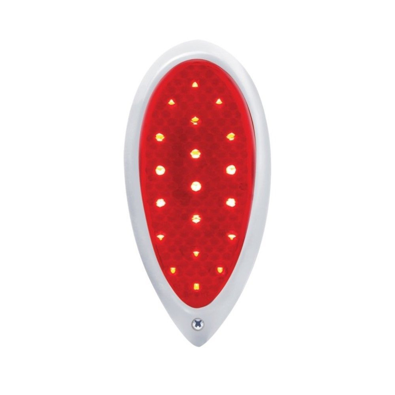19 Red LED Sequential Tear Drop Tail Light Assembly - Hot Rat Street Rod Custom