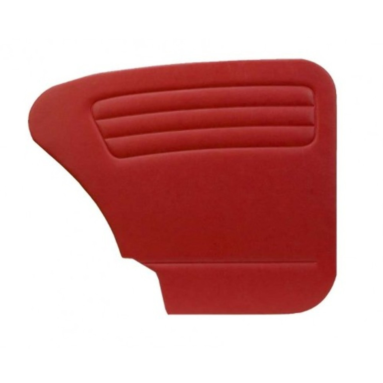 DOOR PANELS FRONT/REAR, 1967-78 BUG W/POCKETS BOTH SIDES, RED SMOOTH VINYL