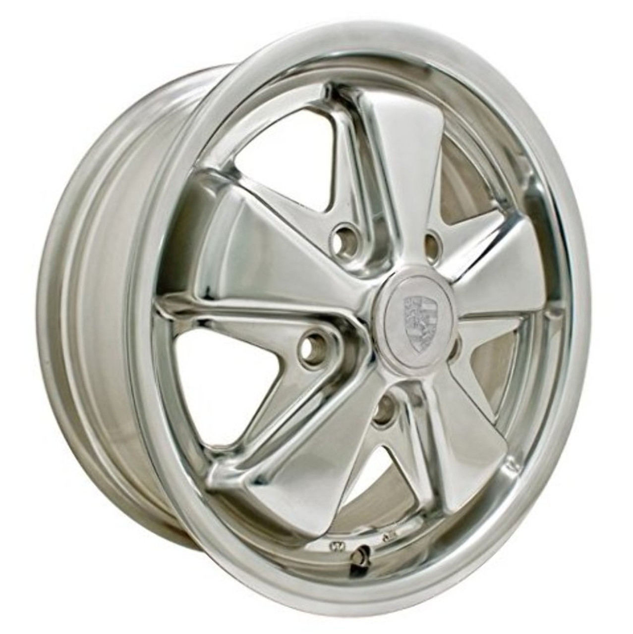 "911 ALLOY-POLISHED, POLISHED,  5.5""X15"", 5X130MM, 9680, dune buggy vw baja bug"