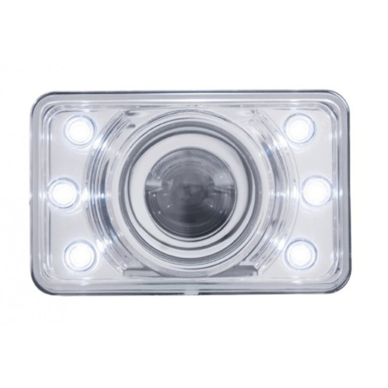 """4"""" x 6"""" Crystal Projection Headlight w/ LED Position Light - Low Beam Only"""