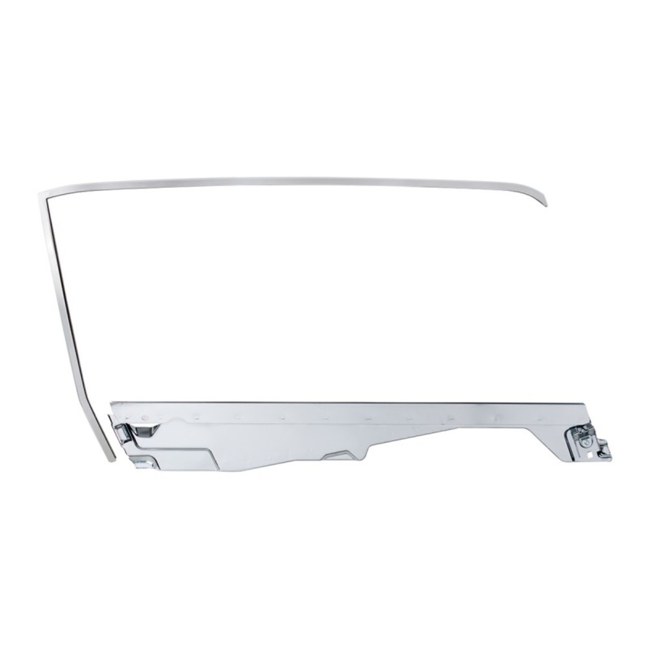 Door Glass Frame Kit For 1965-66 Ford Mustang Convertible -  R/H
