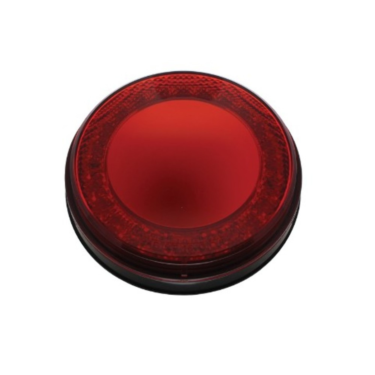 "24 LED 4"" Round S/T/T & P/T/C ""Mirage"" Light - Red LED/Red Lens"