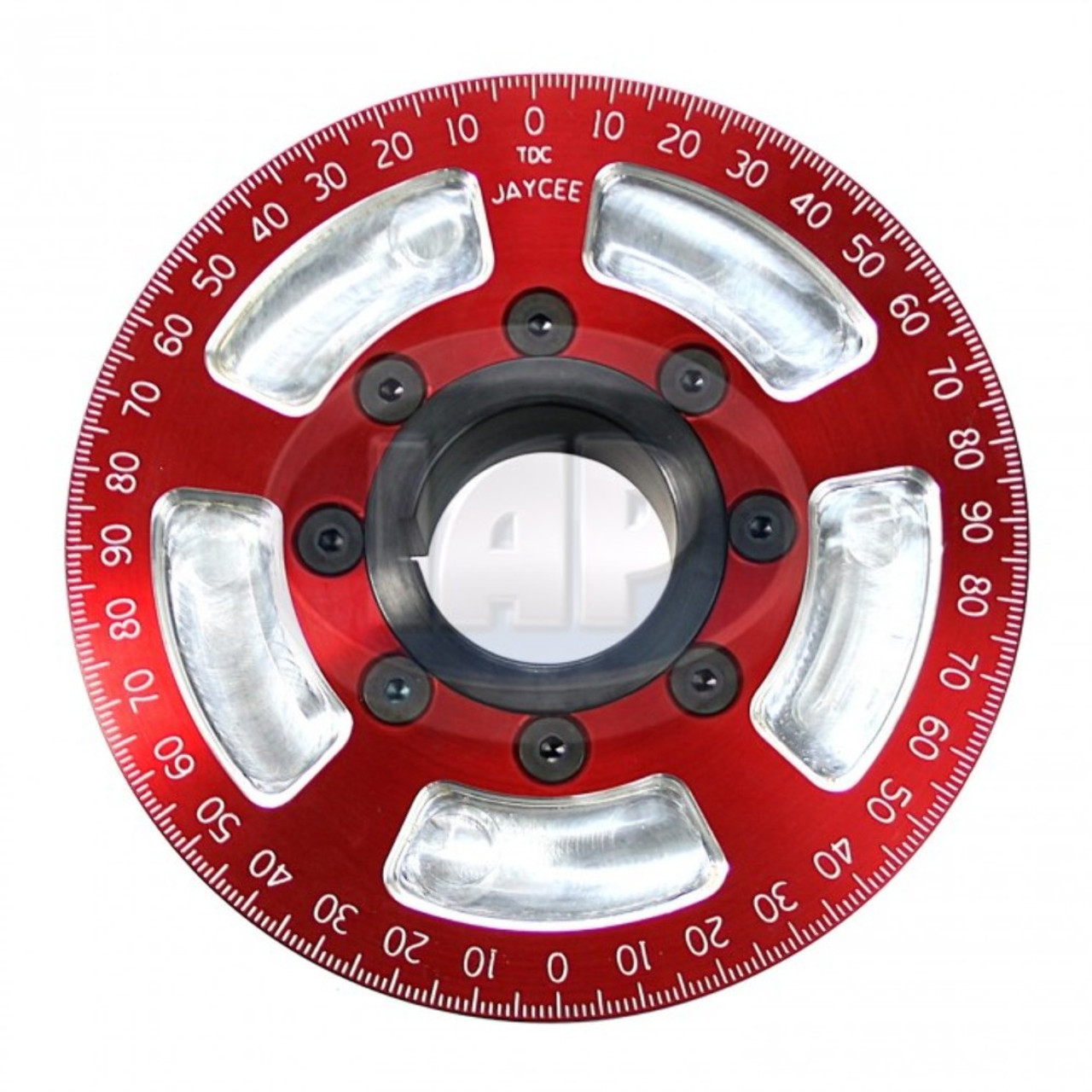 "5-1/4"" Street Power Crankshaft Power Pulley, Red For Air-Cooled VW"