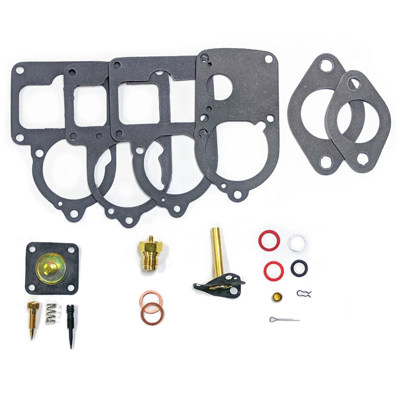 RADKE VW SOLEX CARB REBUILD KIT, VW BUG / BEETLE 28 PICT-34-3 113-198-575U,  21 pc  KIT