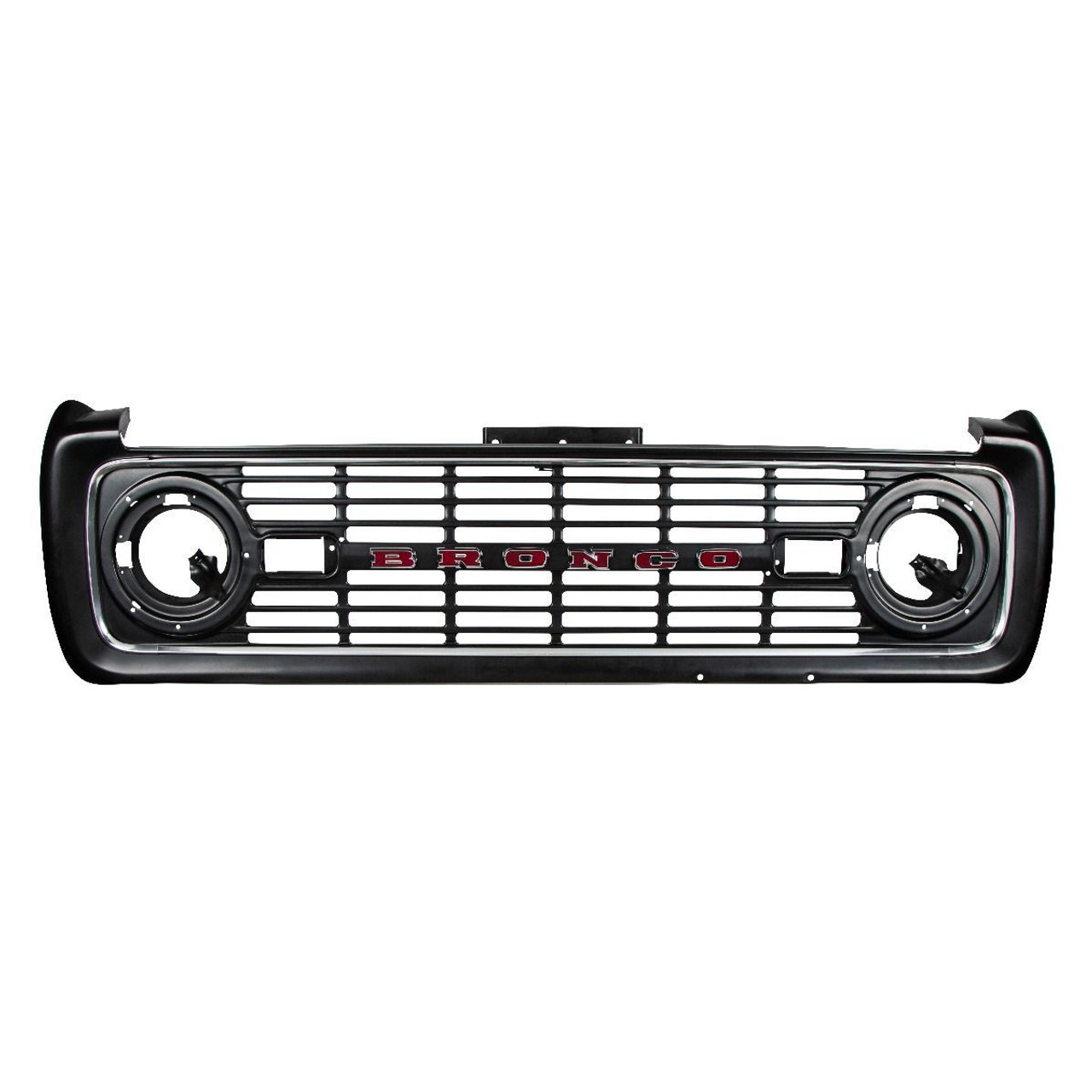 """Chrome """"BRONCO"""" Grille Letter Set, Compatible with Ford Bronco 1966-1977"""