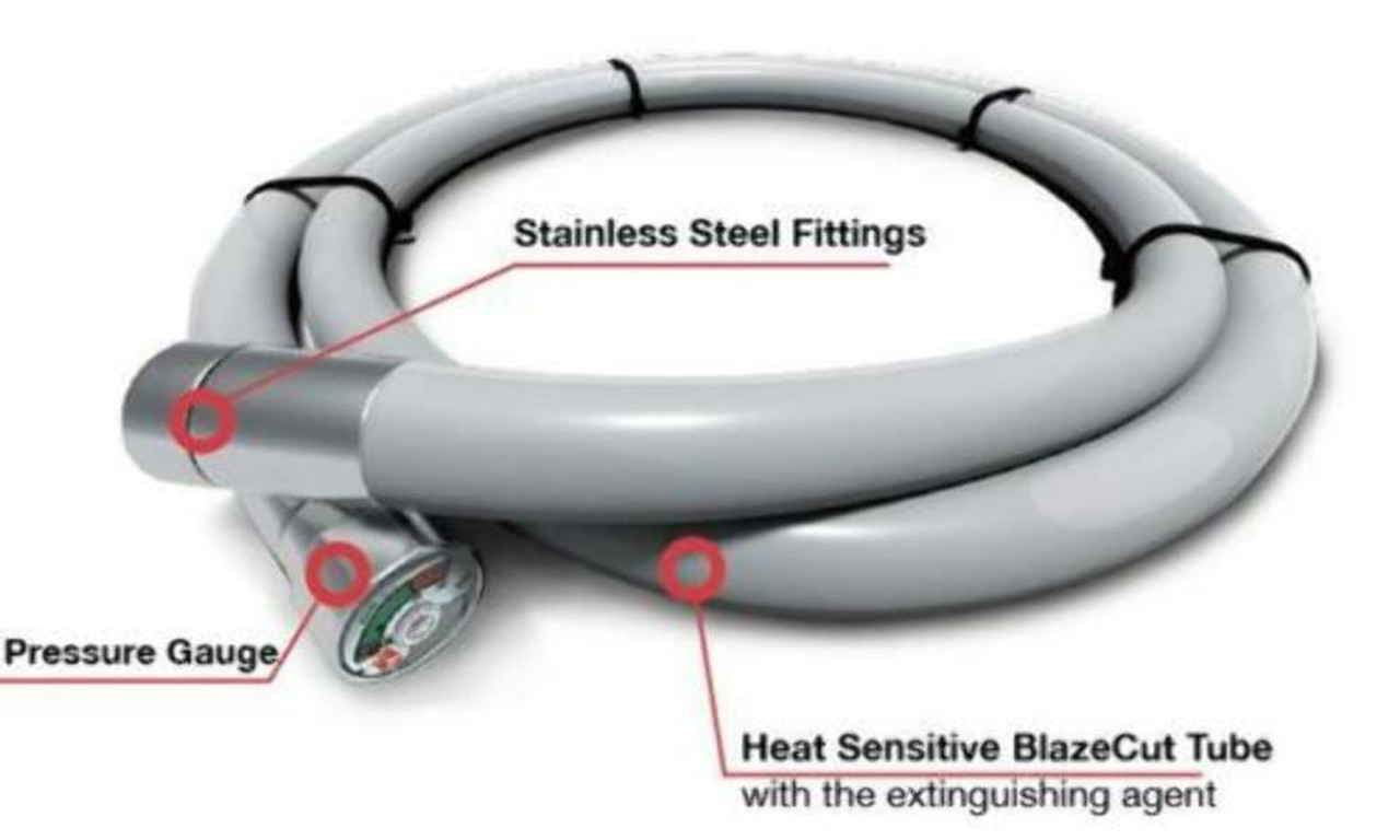9' BlazeCut Automatic Fire Suppression System, Air-Cooled Type 2, Ghia, Thing