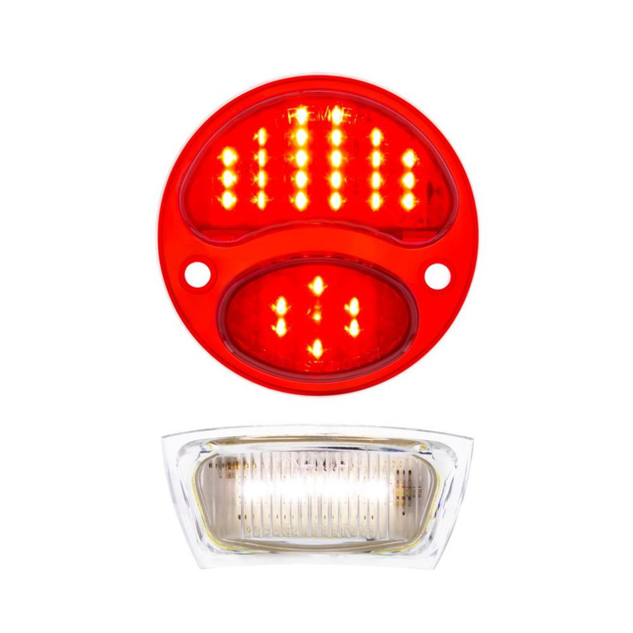31 LED Red Sequential Tail Light W/LED License Plate Light, For 1928-31 Ford Car