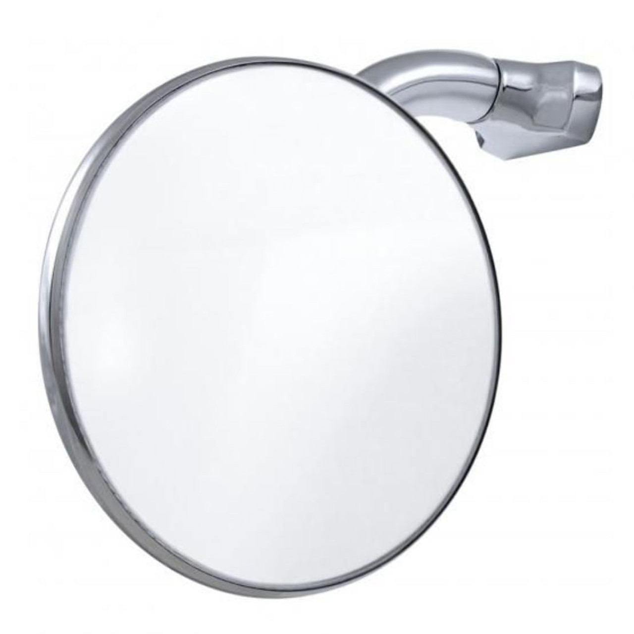"""4"""" Curved Arm Peep Mirror With Convex Mirror Glass"""