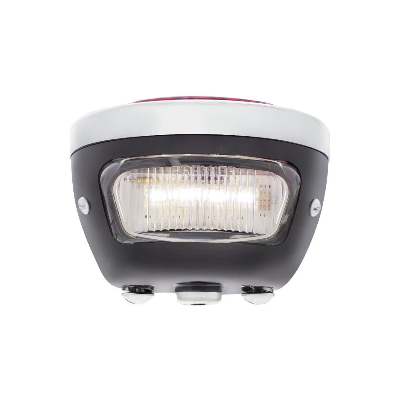 31 LED Sequential Tail Light, Black w/ Stainless Rim , 1928-31 Ford Car - Left/H