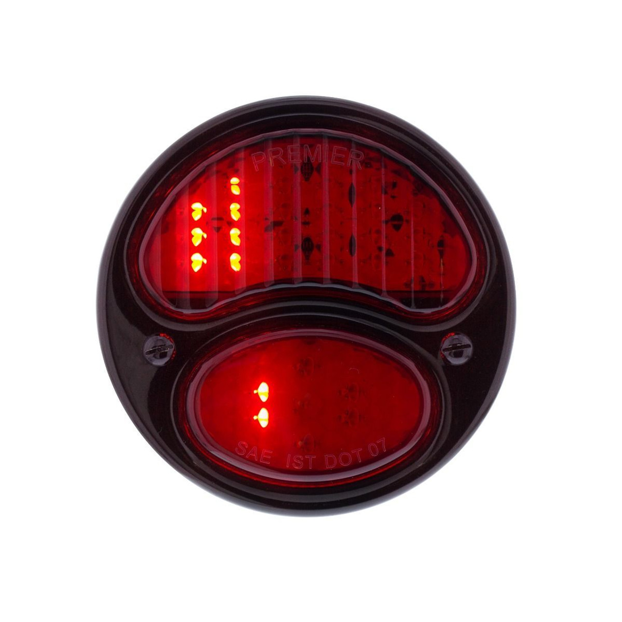 31 LED Sequential Tail Light W/ Black Housing & Rim For 1928-31 Ford Car - R/H