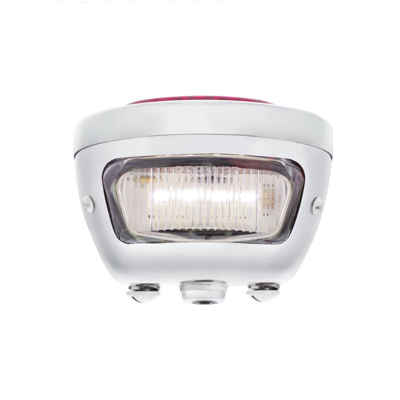 31 LED Sequential Tail Light, Stainless Steel, 1928-31 Ford Car,  Left Hand Side