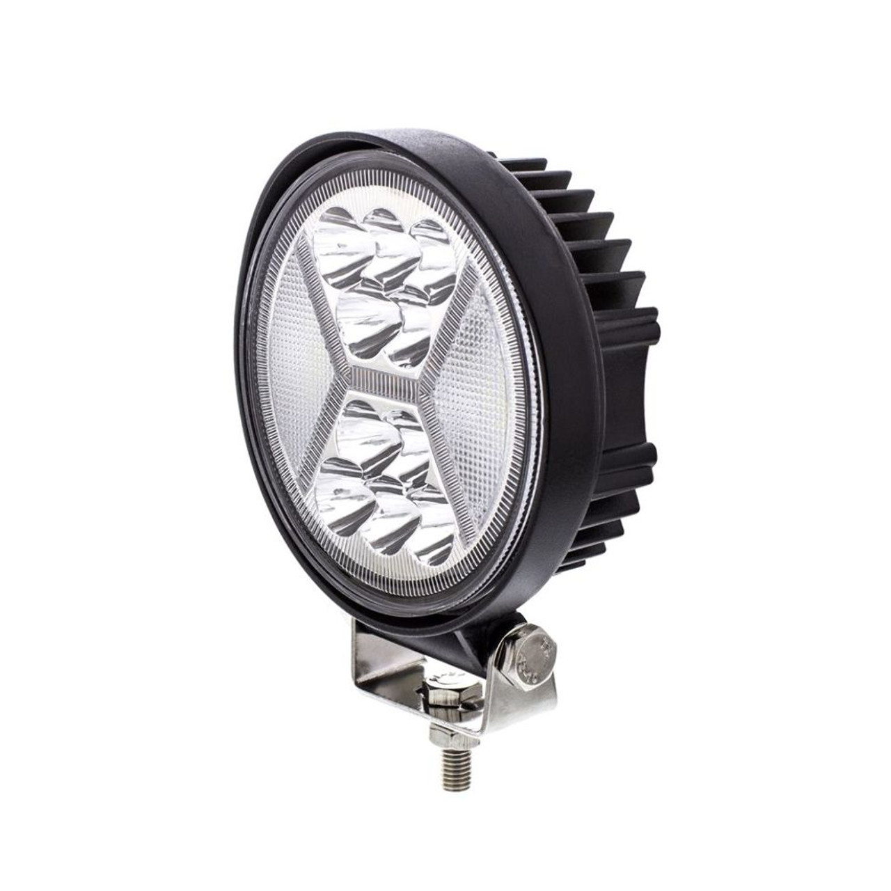 """4.5"""" 24 High Power Led Work Light With """"X"""" Amber Light Guide, 5200 Lumens, IP67"""
